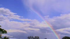 Beautiful rainbow Stock Footage