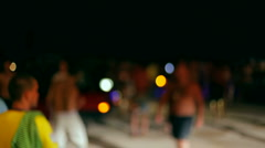 Party on the beach Stock Footage