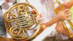Musician playing trumpet Stock Footage