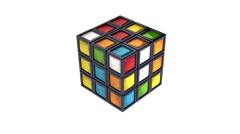Toy cube 3d Stock Footage
