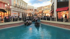 Time Lapse of the Venetcian Canals Las Vegas - stock footage