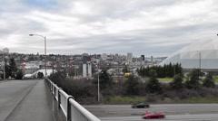 Tacoma Dome and I5 Freeway 2 Stock Footage