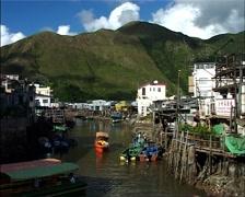 Tai O Fishing Village, China GFSD - stock footage