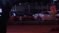Cars cam move slow shutter Stock Footage