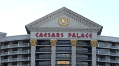 Caesars Palace zoom out - HD - stock footage