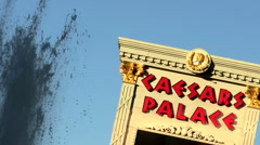 Caesars Palace with fountain V1 - HD - stock footage