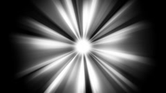 Light Beams: loopable shining star in the dark Stock Footage