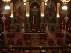 The Senate Chamber of Pennsylvania Stock Footage