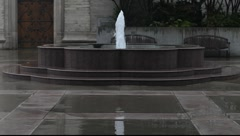 Cathedral Fountain Stock Footage