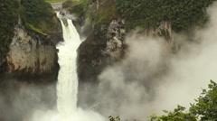 San Rafael Falls, Ecuador Stock Footage