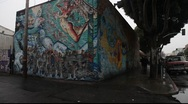 Stock Video Footage of Urban Graffiti Mural