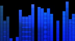 Blue Grunge Digital VU Meter Wipe Stock Footage