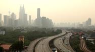 Petronas Twin Towers, Aerial View of Kuala Lumpur, Malaysia, Bird Eye View Stock Footage