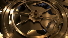 Revolving gears Stock Footage