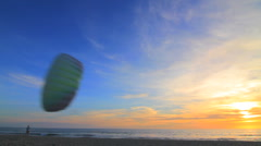 Kite Swoops in Front of Camera Stock Footage