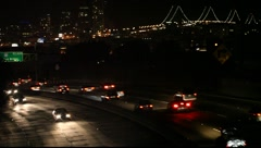 Bay Bridge and Freeway Stock Footage