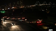 Stock Video Footage of Bay Bridge and Freeway