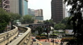 Monorail Modern Urban Transportation, Aerial View of Kuala Lumpur, Malaysia Footage