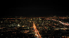 City of San Francisco at Night from Twin Peaks - Ver 3 - stock footage