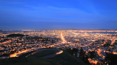 Time lapse San Francisco Bay at Sunset - Clip 1 Stock Footage