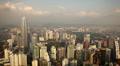 Petronas Twin Towers, Aerial View of Kuala Lumpur, Malaysia, Bird Eye View Footage