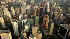 Aerial View of Kuala Lumpur Financial Center, Malaysia, Bird Eye View Stock Footage