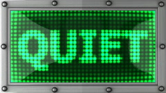 Quiet announcement on the LED display Stock Footage