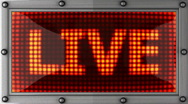 Live announcement on the LED display Stock Footage