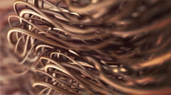 Hair closeup with shallow depth of field  Stock Footage