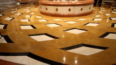 Inside the lobby of Venetian Hotel in Las Vegas Stock Footage