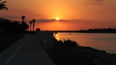 Sunset fort pierce inlet 03-16-2011 h264 Stock Footage
