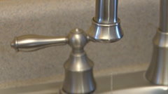 Leaking faucet dripping 30P Stock Footage