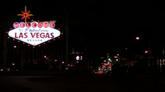Vegas sign with strip V1 - HD - stock footage