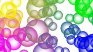 Stock Video Footage of Color Bubbles