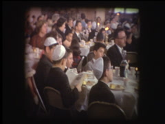 Childrens Passover Seder at synagogue Stock Footage