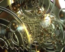 Clock machine gear Stock Footage