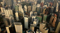 Business Corporate Buildings Aerial View Kuala Lumpur Financial Center, Malaysia Stock Footage