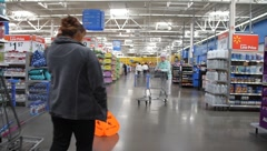 Walmart Customers Shopping Stock Footage