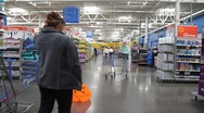 Stock Video Footage of Walmart Customers Shopping