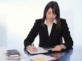 Businesswoman adding bills. SD. Stock Footage