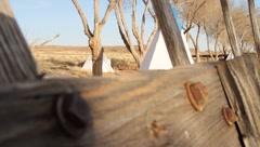 Native American Village Stock Footage