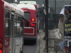 Public Transit Buses Stock Footage