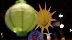 Japanese Lanterns Stock Footage