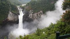 San Rafael Falls, Ecuador, Timelapse - stock footage