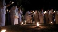 Stock Video Footage of Outdoor buddhist prayer