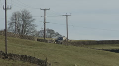 Herding sheep near Reeth, Swaledale. Stock Footage