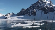 Stock Video Footage of Arctic landscape - ice, glaciers, mountains