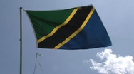 Stock Video Footage of Tanzania flag