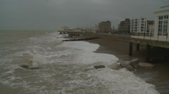Worthing on a winter's day Stock Footage