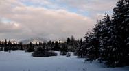 Snow landscape Stock Footage